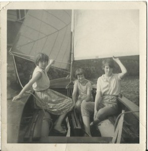 Sisters Sue, Frances and Caroline in the Enterprise about 1960.