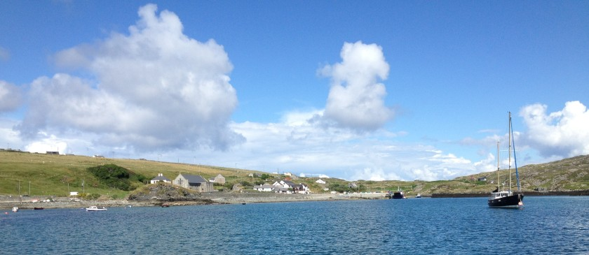 The inner harbour, Inishboffin, where the pub is