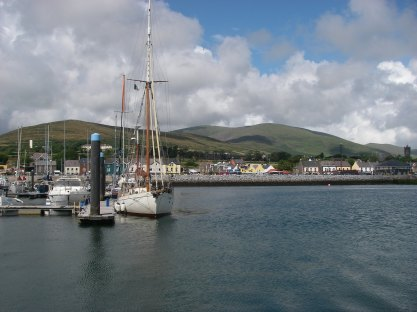 Dingle town from the harbour