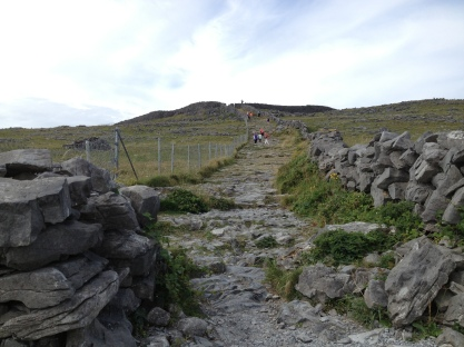 The path up to the fort's gate
