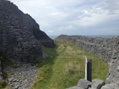 Between two of the lines of fortification