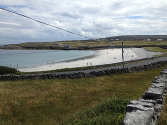 A beach on the gentle north shore of Inishmore