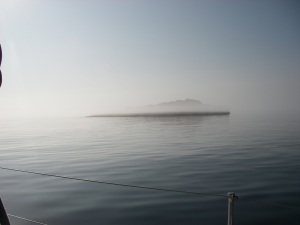 Fog again as we leave Lagavulin