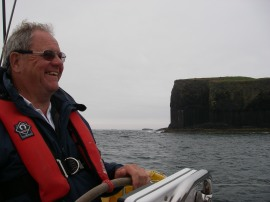 Tony with Staffa in the background