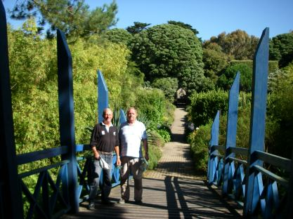 Jean-Jacques and Tony at Abbey Gardens