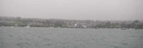 Arriving at Schull in the rain