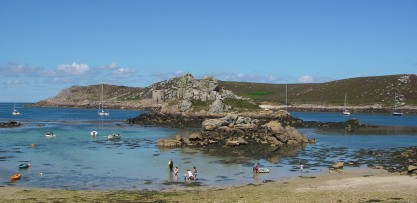 Beach by the pub on Bryher
