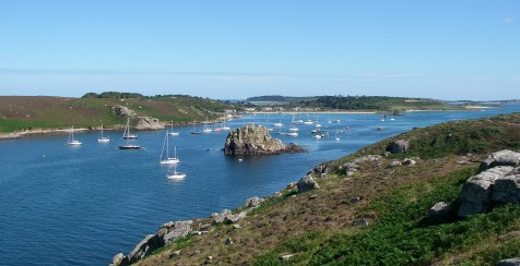 New Grimsby Sound from Bryher, Spring Fever on the far left