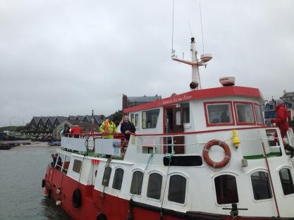 Chris off on an impromptu tour of Sherkin Island