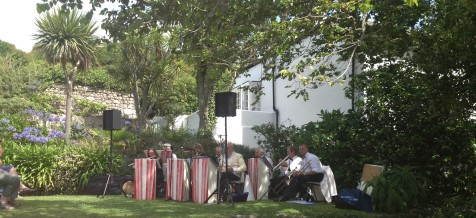 The band at the vicarage garden fete