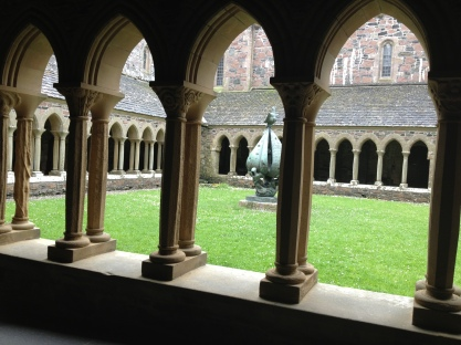 The restored cloister in the cathedral