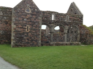 The remains of a convent on Iona