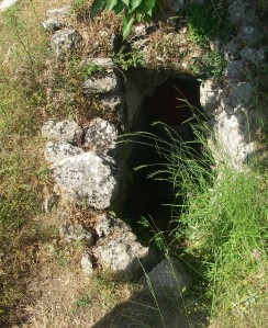 A lined well