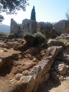 Part of the excavation site on Ithaca, described as