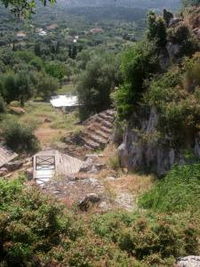 An ancient flight of steps was part of the site. (Click to see full size)
