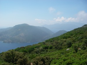 Cephalonia seen from its close neighbour, Ithaca.