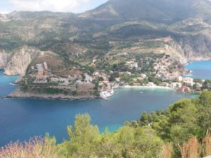 Assos, from the road up to the Venetian fort
