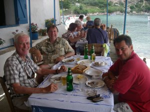 Lunch on the Paliki peninsular: l to r Martin, Bill, Attilio.