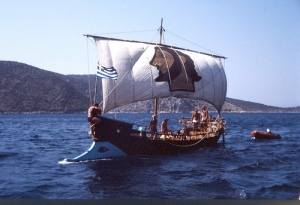 Tim Severin's Argo, a replica Homeric era galley.