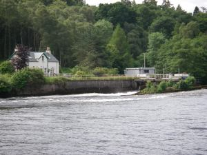 A weir leading down to the River Ness