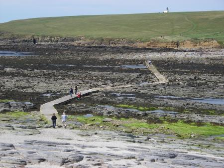 Causeway to the Norse village on Brough o' Birsay