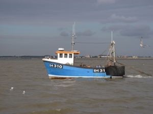 Fishing boat off the River Deben
