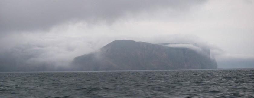 Fog falling of Hoy