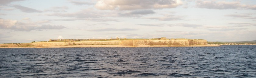 Fort George, at the narrows approaching Inverness.