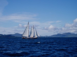 A German schooner near the North of Mull