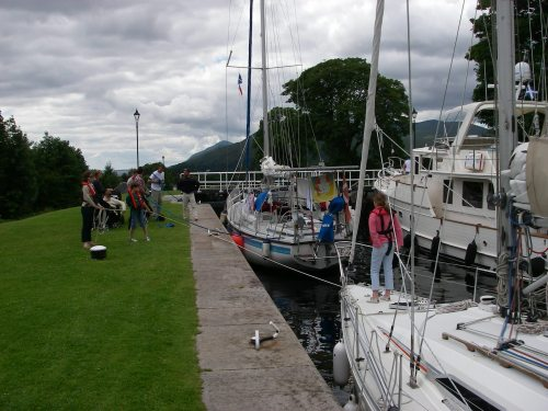 The last locks, down into Corpach and the sea.