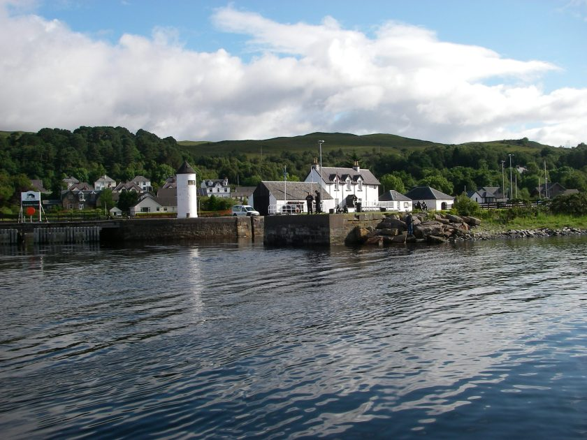 Leaving the harbour at Corpach