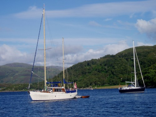 The anchorage in Loch Drumbuie