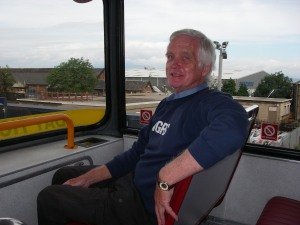 Peter Finch on the bus from Granton