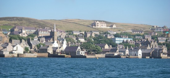 Stromness in the sun as we left