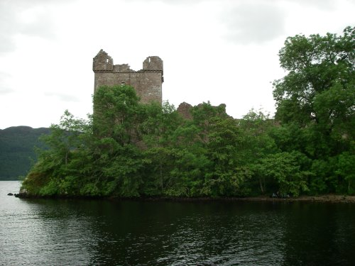 Part of the remains of Urqhart Castle