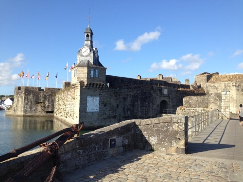 The entrance to the old walled city of Concarneau